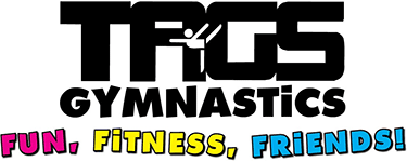TAGS Gymnastics Fun, Fitness, Friends Logo